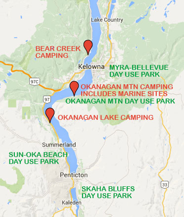 Central & South Okanagan Parks